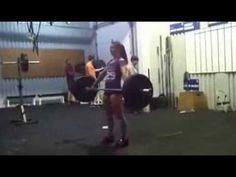 Camille Leblanc-Bazinet 160x5 hang snatch