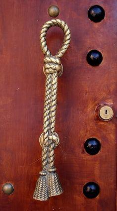nautical knot door knob