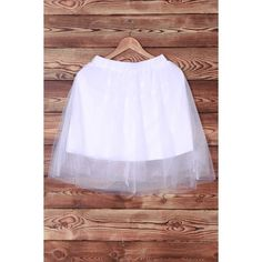 Elegant Elastic Waist White Layered Voile Skirt For Women #men, #hats, #watches, #belts, #fashion, #style