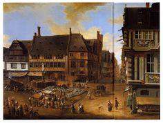 Christian Georg Schütz d. Ä. (Flörsheim/Main 1718 - 1791 Frankfurt/Main), Dippemarkt Frankfurt/Main , 1754.