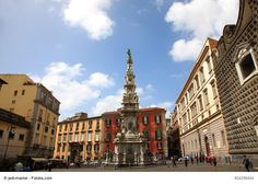 Piazza del Gesù Nuovo, Naples, Italy - This is a charming little square and one of the must-sees for tourists. Enjoy the architecture of the Church of Gesù Nuovo and other landmarks of the city and the views from some on many cafes nearby.