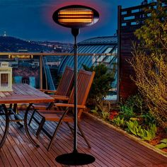 hanging electric infrared outdoor heater white aluminum
