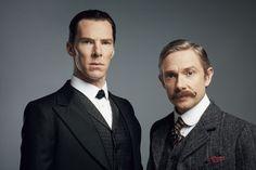 SHERLOCK (BBC/PBS) ~ Sherlock Holmes (Benedict Cumberbatch) and John Watson (Martin Freeman) in the pre-Season 4 special, SHERLOCK: THE ABOMINABLE BRIDE, which premieres January 1, 2016 on BBC & PBS.