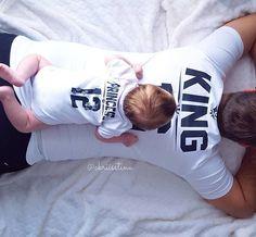Daddy Daughter shirts, KING and PRINCESS family shirts, Dad and baby matching shirts, cute family ideas