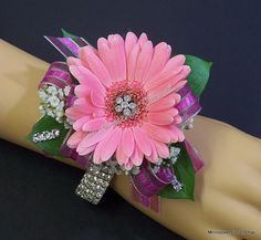 Wrist corsage with one large flower