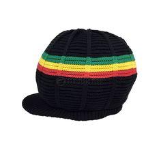 Irie Blessed Cool Runnings Rasta Reggae Hat Cap Short Crown Jamaica S/M