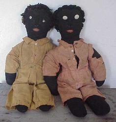 19thC Black Rag Dolls