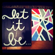 DIY artwork- masking tape on canvas, paint, remove tape- love the cursive, different message though! Cute Crafts, Crafts To Do, Arts And Crafts, Diy Crafts, Art Projects, Projects To Try, Diy Canvas, Canvas Art, Quote Canvas