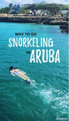 Snorkeling in Aruba at the Antilla shipwreck. Why you should face your fears through traveling, like I did in Aruba! via @valerievalise/