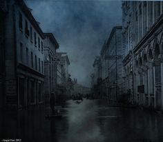 Through Flood filled Streets... • by rubyblossom