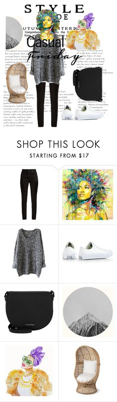 """""""Untitled #246"""" by sariahfranklin ❤ liked on Polyvore featuring Yves Saint Laurent, Converse, Calvin Klein and Improvements"""