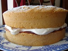 I used my Nana's recipe to make this sponge. She was great at making sponge cake. She never learned to drive a car, but she could whip one o...