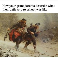 !! #sotrue too #true ! #grandparents love a bit of #strong #exaggeration ! !! #hilarious #bants #funny #jokes #banter #description #journeys #school #backinmyday #education #smile #humour #funnies #comedy #AvaLaugh #DTC !