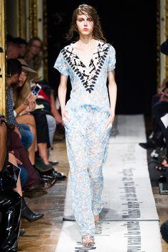 Gosia Baczynska at Paris Fashion Week Spring 2015.