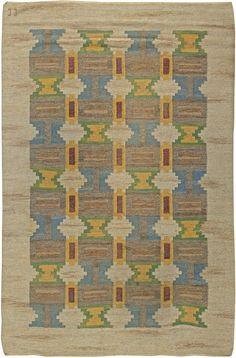 "A Swedish Rug by Judith Johansson  Size:8'1"" x 5'4"" Circa:1930  An early 20th century Swedish carpet. Price: $20,000"