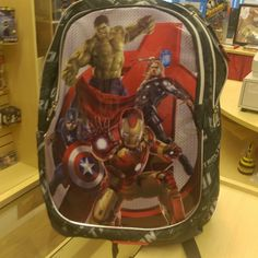 """""""Excellent quality avenger age of ultron rucksack ideal flight bag or school bag £10 off today, was £36 now £26! #avengersageofultron  #avengers #schoolbag"""" Photo taken by @diversionsgifts.co.uk on Instagram, pinned via the InstaPin iOS App! http://www.instapinapp.com (07/01/2015)"""