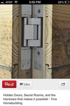 Proper hinges for hidden doors
