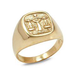 Stainless Steel Astrology Taurus Mens Hexagon Crest Biker Style Signet Ring