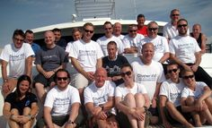 The Dive Team with guests in the Red Sea