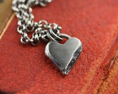 Roserita necklace on 18 inch silver plated chain red heart necklace Valentine/'s sweetheart necklace
