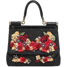 DOLCE & GABBANA Small Sicily Embroidered Brocade Bag