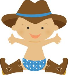 this cowboy baby boy clipart set comes with 10 cute baby cowboy rh pinterest com Baby Boy Clip Art baby cowboy boots clipart