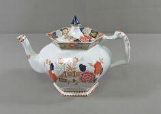 Enoch Woods Sons Wincanton Blue Rust Teapot with Lid | eBay