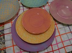 Lace Plates from Krylon Spray Paint