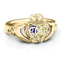 Caged Hearts Celtic Claddagh Ring #jewlr
