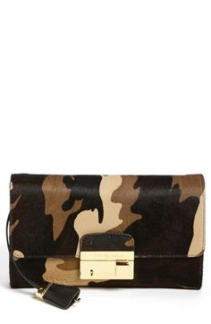 Michael Kors 'Gia' Camo Calf Hair Clutch available at #Nordstrom