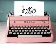 I love this --still looking for a really pink (as in originally pink) vintage typewriter (that can be shipped to Australia, of course) ✭