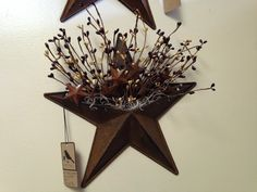 """12"""" Rusty star with pips and stars--Primitives and Things on Facebook"""