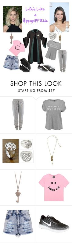 """Hippogriff"" by mrsnotsoperfect ❤ liked on Polyvore featuring NOVICA, Betsey Johnson, Vera Bradley, NIKE and Converse"