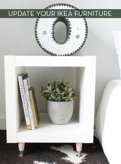 How To Add Legs To An IKEA Sidetable » Curbly | DIY Design Community