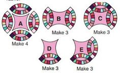 Wedding Ring Quilt Pattern free create 40 copies Template bows for getting 80 bows. If you using each of 13 cloth for bows Si. Quilt Patterns Free, Free Pattern, Block Patterns, Patchwork Quilt, Wedding Ring Quilt, Wedding Quilts, Double Wedding Rings, Quilting Tutorials, Quilting Ideas