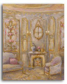 Petit salon aux Aubusson - Château de Fortoiseau - Hélène Flont