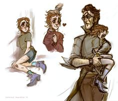 orphan kid!Rhys and his guardian Jack (I dunno what am I drawing but I like it) цепе в лс)0 (side!AU)