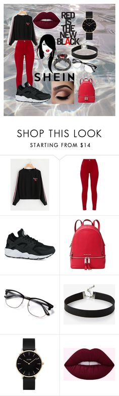 """""""Red is Royalty"""" by jasmine-stepter on Polyvore featuring NIKE, MICHAEL Michael Kors, Express and CLUSE"""