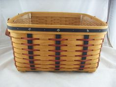 Longaberger 2003 Proudly American Small Wash Day Basket w Protector