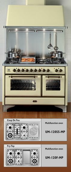 "48"" ILVE Dual Fuel Range in antique white (40"" comes in same color but hard to find pictures)"