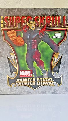 """BOWEN DESIGNS MARVEL""""THE SUPERSKRULL"""" Stands over 12 Inches Strictly Limited Neu Marvel Characters, Comic Books, Statue, Baseball Cards, Comics, Painting, Ebay, Design, Art"""