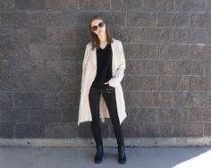 #minimal #minimalstyle #minimalfashion #womensfashion #trenchcoat #dustercoat #iweargarage #monochrome #urbanoutfitters