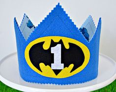 Batman Superhero Boy's Birthday Crown - you choose number