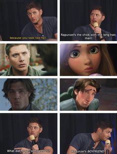 Jensen and Jared being compared to Tangled characters at convention panel
