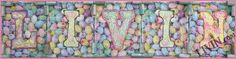 """Satisfy your sweet tooth with """"Jelly Bean LIVIN""""  mixed media LIVIN® sign. Available in gallery quality (high-resolution) prints/canvas wraps guaranteed to last a lifetime."""