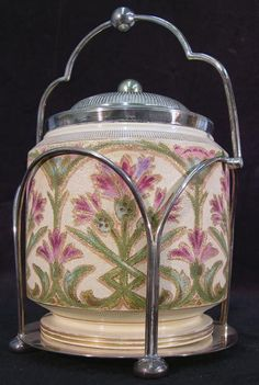 226: Tapestry Biscuit Jar : Lot 226