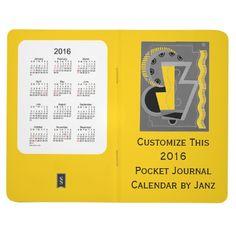 2016 Gold Pocket Journal Calendar by Janz