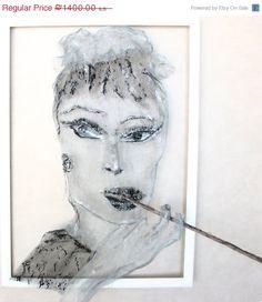 ON SALE Metal Wall Audrey Hepburn OOAK In Work by MeshAndClayArt on Etsy https://www.etsy.com/listing/212685237/on-sale-metal-wall-audrey-hepburn-ooak