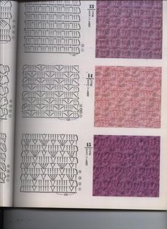 200 samples points in crochet, website in a foreign language, but useful if you read symbol patterns. Granny Square Häkelanleitung, Granny Square Crochet Pattern, Crochet Diagram, Freeform Crochet, Crochet Chart, Crochet Motif, Knitting Stiches, Crochet Stitches Patterns, Crochet Designs