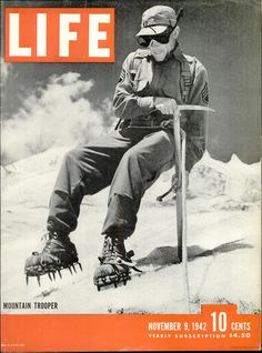Buy Original Life Magazine from November 1942 - Mountain infantry by Life Maga.this iconic print should make a useful gift for family and other esteemed ones Life November 9 1942 - A well-preserved y. Life Magazine, History Magazine, News Magazines, Vintage Magazines, 10th Mountain Division, Outdoor Magazine, Fort Lewis, Life Cover, November 9th